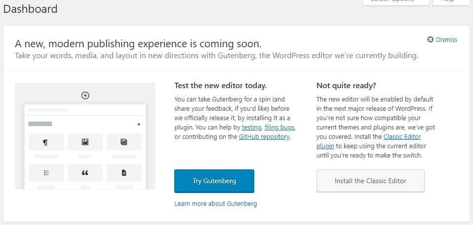 // Disable gutenberg welcome panel remove_action('try_gutenberg_panel', 'wp_try_gutenberg_panel');