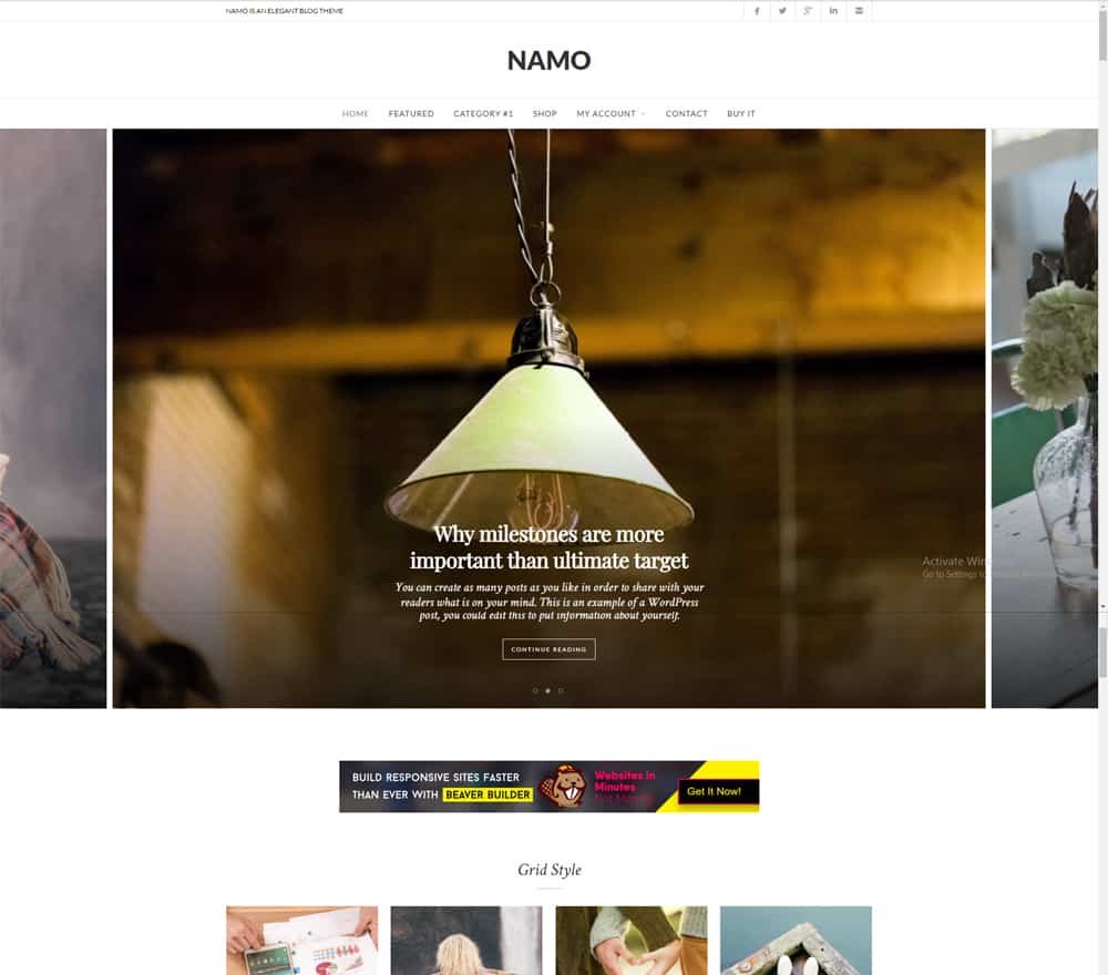 Namo - Beaver Builder Child Theme