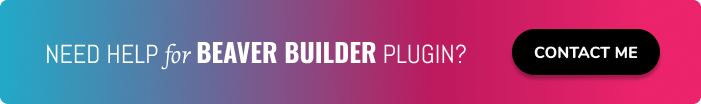 Need help for Beaver Builder plugin?