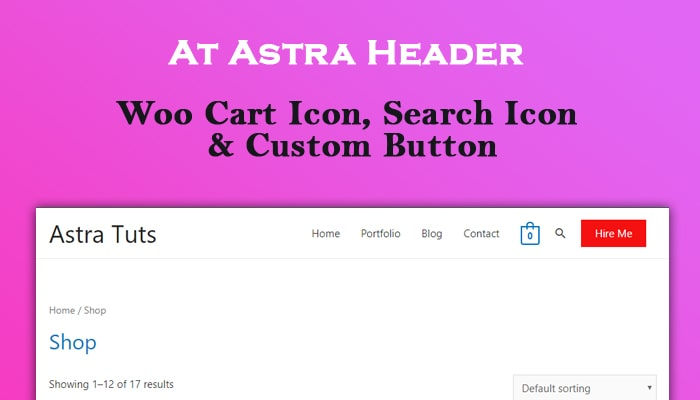Woo Cart, Search Form & Button