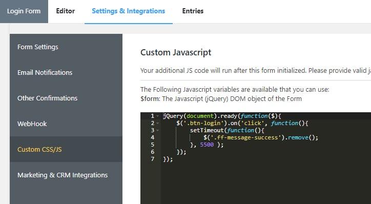 Custom JS Code